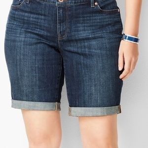 Talbots Girlfriend Dark Wash Jean Shorts sz 16